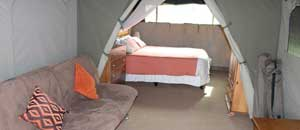 Marlothi Safari Park Tent Inside - Komatipoort, Malelane, Mpumalanga, Accommodation, Camping, Self-catering